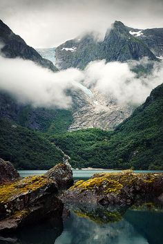 Norway. Bondhus glacier in the Hardangerfjord region.