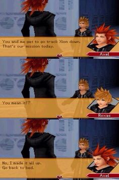 Axel sarcasm at it's finest (❁´◡`❁)