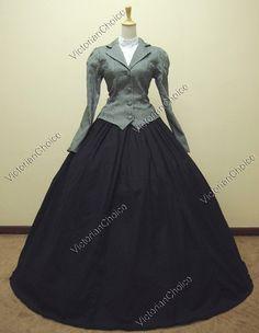 Civil War Victorian Cotton Blends Day Dress Ball Gown Reenactment 166 XL | eBay
