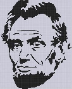 Abraham Lincoln Cross Stitch Pattern