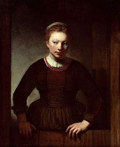 """16 марта. """"Woman at a dutch door""""  (Art Institute of Chicago)   Samuel van Hoogstraten"""