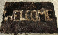 "MAT by Rosie Leventon (2008; 33""x 23"" x 2""; human hair on foamboard)"