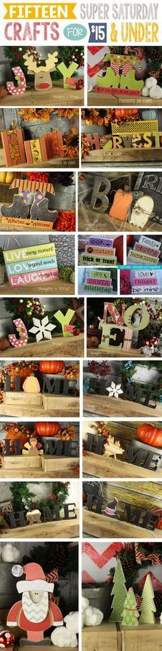 Over 60 Super Saturday Ideas for $5 - $15 in one place! Super cute craft projects
