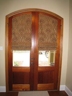 Custom Window Treatments   Traditional   Entry   New Orleans   By . Arched Door  Shades ...