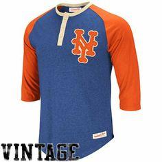 Mitchell & Ness New York Mets Royal Blue-Orange Fastball Henley