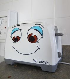 My sister did this to her toaster, it brought back so many good memories - Imgur