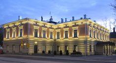 Turku City Hall at night