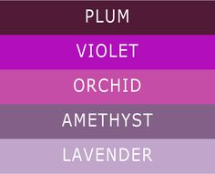 5 different shades of purple wedding color ideas