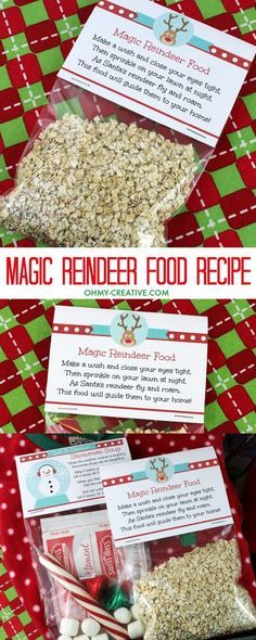 Magic Reindeer Food Recipe and Printable - Oh My Creative - - Looking for a new Christmas Eve tradition? Magic reindeer food is easy to make - bird safe. Use these cute printables and reindeer food recipe this holiday! Preschool Christmas, Noel Christmas, Christmas Activities, Christmas Crafts For Kids, Christmas Projects, Winter Christmas, Holiday Crafts, Holiday Fun, Christmas Printables