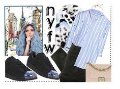 NYFW blue baby by malinkova on Polyvore featuring moda, Fendi, Belstaff, adidas, Chanel, Vanessa Mooney, StreetStyle and NYFW