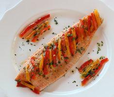 Filetti di trota con i peperoni