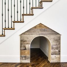 Under Stairs Dog House . Under Stairs Dog House . Under the Stairs Dog House Future House, My House, House Dog, Dog House Inside, Smart House, Luxury Dog House, Kitty House, Sweet Home, Stair Decor