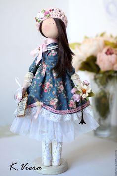 Fabric doll / Купить Амели - тёмно-синий, кукла ручной работы, текстильная кукла, кукла, кукла в подарок