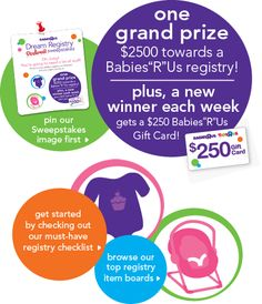 """Babies""""R""""Us Win Your Dream Registry Pinterest Sweepstakes"""