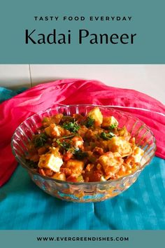 Kadai Paneer is a delicious side dish from North Indian cuisine. It pairs well with tandoori roti, naan, phulka or chapati. This is a semi-dry and quick version.