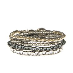 Metallic Bead Wrap Bracelet - learn to mix your metals!
