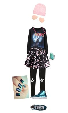 """""""lone wolf (remake)"""" by toyherb ❤ liked on Polyvore featuring Ray-Ban, WithChic, Chicnova Fashion, Anna Lou of London, Quattrobarradodici, Bling Jewelry, American Vintage, amazing, Pink and pastel"""