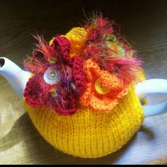 ❇Crochet Tea Cosies,  Coffee and Tea Cup and Mug Snugs and HugsTropical Tea Cosy