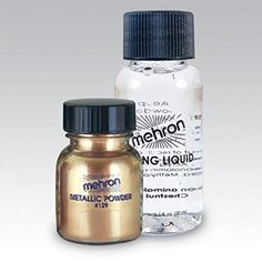 Metallic Powder .17 oz with Mixing Liquid 1fl oz - Gold by Mehron ** This is an Amazon Affiliate link. Read more at the image link.