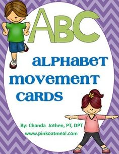 Alphabet Movement Game - Perfect for incorporating movement with learning and letter recognition. Can be used in the classroom, therapy, groups, stations.  Perfect to keep children engaged!