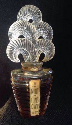 "RARE LALIQUE LUBIN PERFUME BOTTLE FRENCH PARIS ART GLASS NUITDE LONG CHAMP NR 6"" #ARTGLASS #LALIQUE"