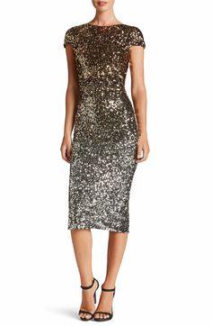 Main Image - Dress the Population Marcella Ombré Sequin Body-Con Dress