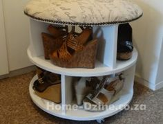 14. Plain  or upholstered shoe storage carousel or turntable - Home Dzine