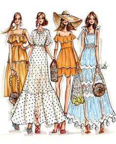 Fashion Design Sketchbook, Fashion Design Drawings, Fashion Sketches, Drawing Fashion, Fashion Art, Fashion Models, Vintage Fashion, Fashion Outfits, Classic Fashion