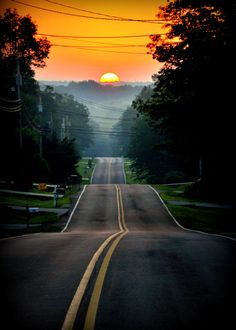 Beautiful sunset - Denise Brinkley Photography  The only thing missing is the motorcycle.