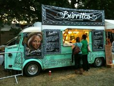 Luardos mexican street food Citroën HY truck, called Jesus and selling burritos