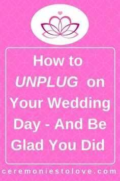 "The planning is done, and your vision has come true. Today is your wedding day. Now, all you need to relax and enjoy it. Before you say ""I can't give up my phone for the entire day"", please read this article. It can completely change your wedding day Wedding Day Checklist, Wedding Planning Guide, Wedding Tips, Wedding Trends, Diy Wedding, Dream Wedding, Wedding Blog, Wedding Ceremony, Wedding Hacks"