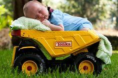 Tonka Truck Baby by mkmom, via Flickr -- super cute!!