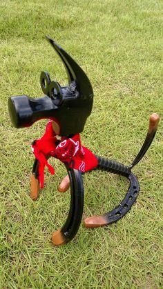 Welding Art Projects, Welding Crafts, Wood Shop Projects, Metal Art Projects, Metal Crafts, Recycled Crafts, Horseshoe Projects, Horseshoe Crafts, Horseshoe Art