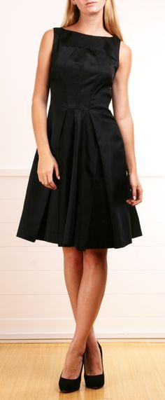 Classic Black Silk Cocktail Dress
