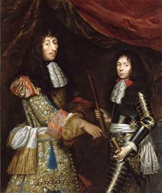 Claude Lefebvre, Portrait of Louis de Bourbon, Prince de Condé and his son Henri Jules de Bourbon, duc d'Enghien, c. 1680