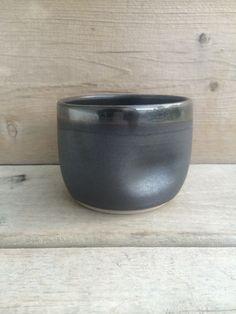 Thumbprint mug without handle in pewter – mud + stone Mud, Pewter, Handle, Ceramics, Stone, Tableware, Tin Metal, Dinnerware, Tin