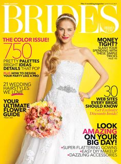 Brides June Cover, with the Aurora Headwrap by Jennifer Behr :: wedding :: bride :: dress :: gown :: updo :: hair :: beauty :: crystal