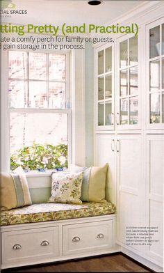 Built in Window Seat-large drawers, cabinet doors, hardware