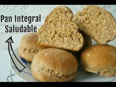 Pan integral saludable sin aditivos y muy fácil. (SIN LECHE) - YouTube No Salt Recipes, Bread Recipes, Cooking Recipes, Healthy Recipes, Baguette, Sin Gluten, Banana Bread, Sandwiches, Muffin