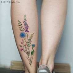 Botyk Tattoo — wildflowers #the_verge_tattoo #tattoo #tattoos...