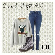 """""""Casual Outfit #10 """" by carolina-herrera0 on Polyvore featuring Dr. Martens, women's clothing, women's fashion, women, female, woman, misses and juniors"""