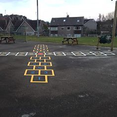 4 way hopscotch installed at Roseburn Primary School, Scotland by first4playgrounds
