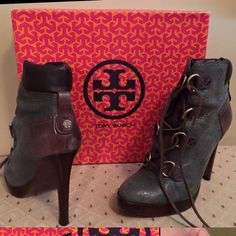 Tory Burch Booties In great condition, worn about 2-3 times Tory Burch Shoes Ankle Boots & Booties