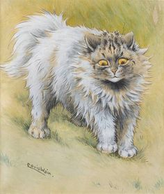 Louis Wain, A grey Persian