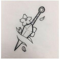 Art Drawings Sketches Simple, Pencil Art Drawings, Tattoo Sketches, Tattoo Drawings, Cute Drawings, Tattoos To Draw, Sword Drawings, Drawing Ideas, Small Drawings
