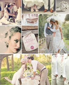 Vintage wedding inspiration. Love this inspiration board! #vintagewedding