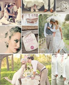 Vintage wedding inspiration. Love this inspiration board! #vintagewedding
