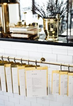 Menus in brass. Graphic work by Marcus Garde. Interior by Richard Lindvall.