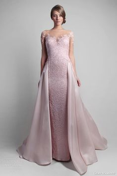 gemy maalouf spring 2014 couture pink gown