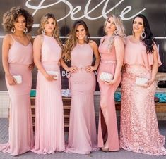 Pink is the colour Pink Party Dresses, Pink Bridesmaid Dresses, Wedding Bridesmaids, Pink Dress, Wedding Dresses, Prom Dresses, Pink Parties, The Dress, Pretty Outfits